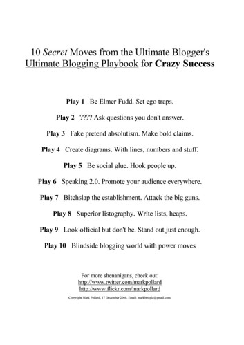 10 Secret Moves from the Ultimate Blogger's Ultimate Blogging Playbook for Crazy Success | by mark-pollard