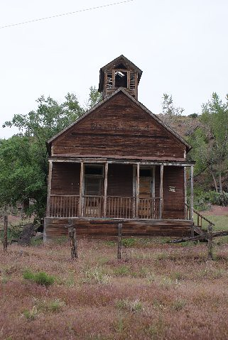 an old one room school house near New Castle, Colorado on ... Old One Room School Building
