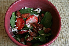 Spinach Salad with Candied Almonds and Strawberries | by Sarah :: Sarah's Cucina Bella
