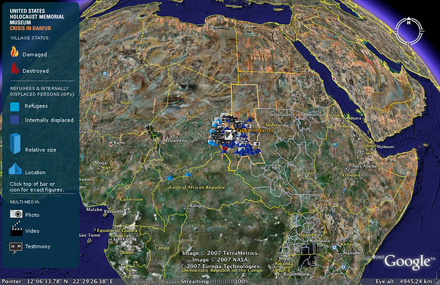 Google Earth Maps Crisis In Darfur The United States Holoc Flickr