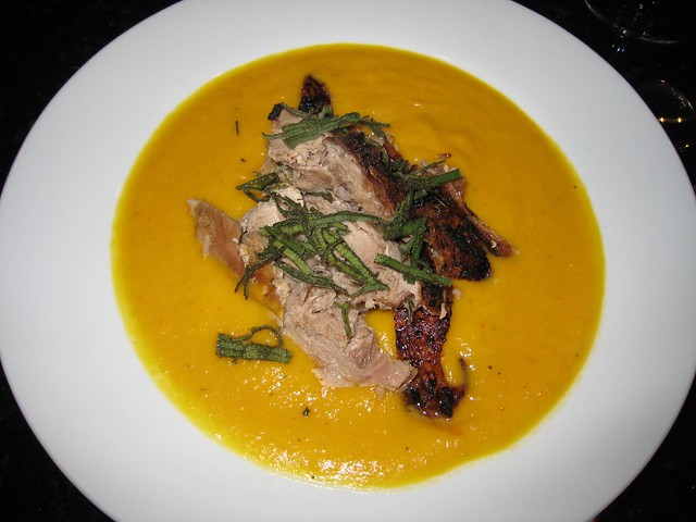 IMG_7488 | Pumpkin soup with roasted turkey thigh and fresh ...