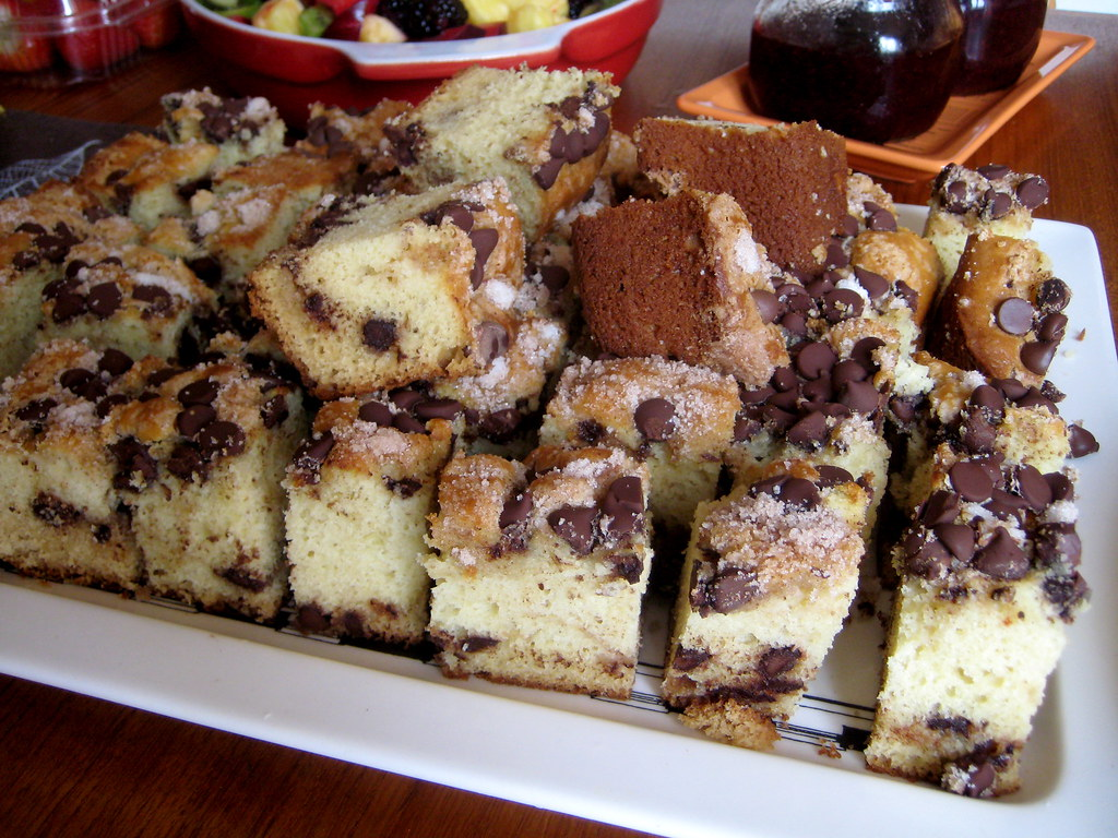 Chocolate Chip Coffee Cake With Streusel