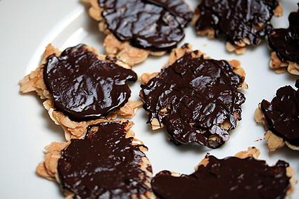 chocolate-dipped florentines | by David Lebovitz