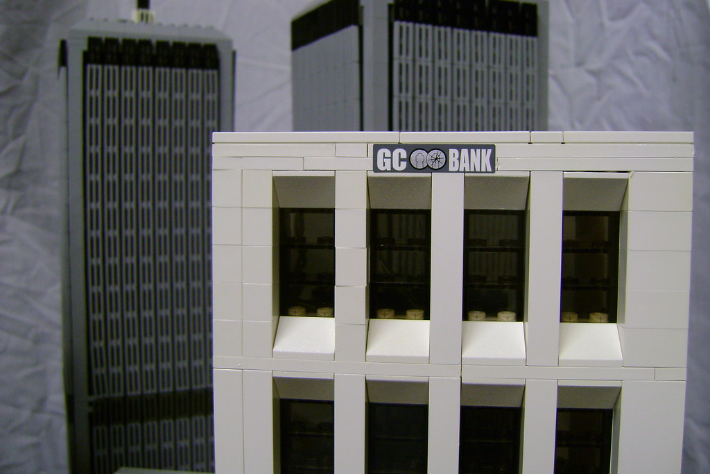 Gotham City Bank | Gotham City Bank with the Twin Towers ...