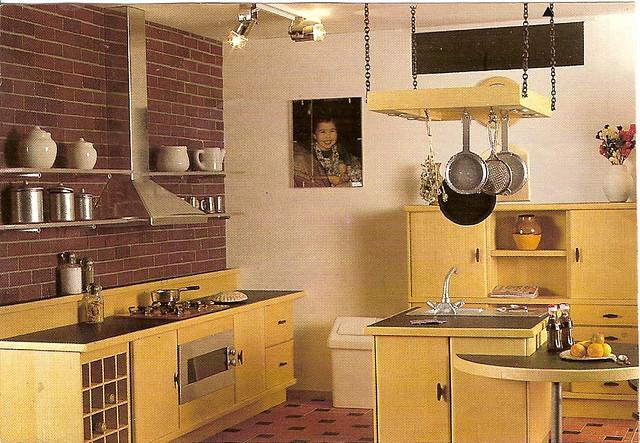 Modern Lightwood Dollhouse Kitchen American Loft Style