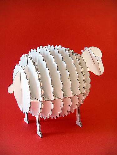 cardboard sheep template - cardboard sheep par dscn2845 flickr photo