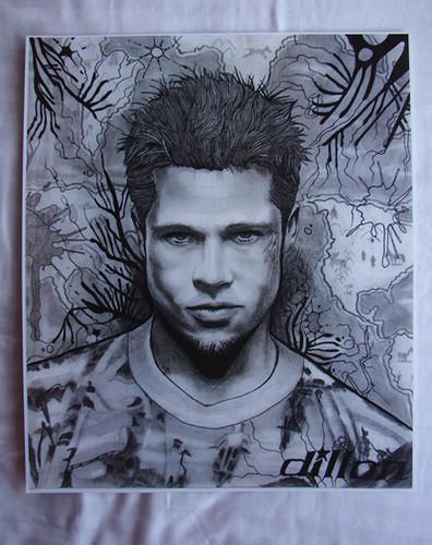 Drawing of Brad Pitt F... Brad Pitt