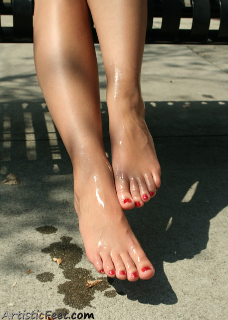 Lacy 2  Lacys Pretty Feet Are Slick With Baby Oil -4698