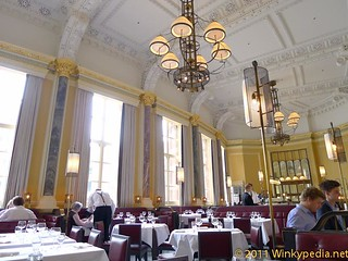 Dining area at Gilbert Scott by Marcus Wareing at St Pancras Hotel | by Winkypedia.net