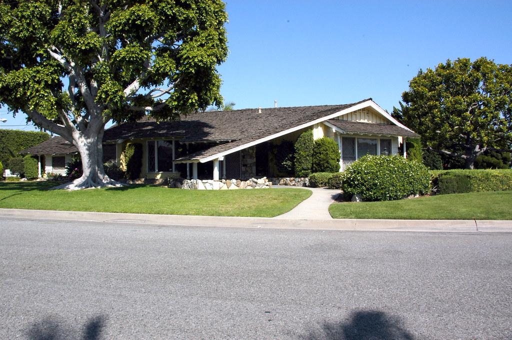 Northeast downey california custom mid century homes flickr for Century custom homes