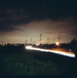 Lincoln Blvd. Night Scape Power Lines | by camyluna