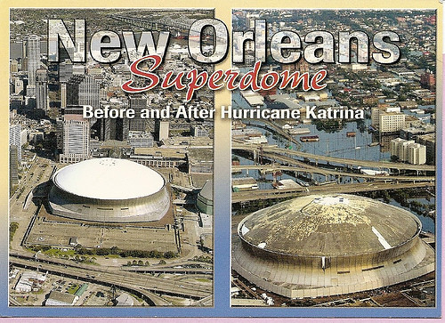 Louisiana New Orleans Superdome Before and after Hurri Flickr
