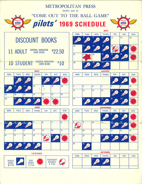 1969 seattle pilots schedule see our website for more on t flickr