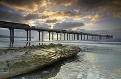 The Light behind the Scripps Pier | by PatrickSmithPhotography