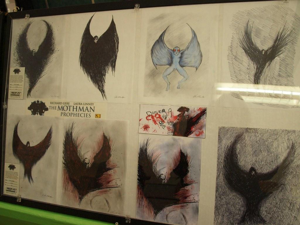 mothman drawings from the quotmothman propheciesquot mothman