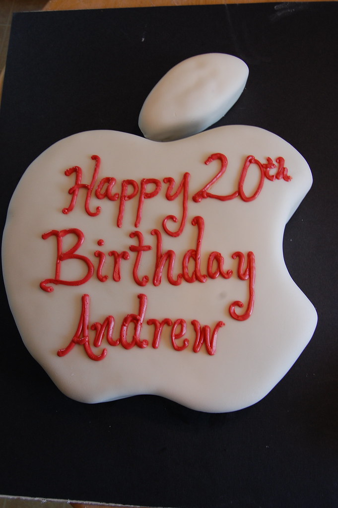 Apple Birthday Cake Photo