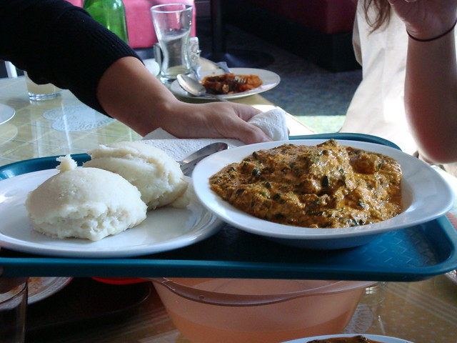 Goat egusi soup with fufu