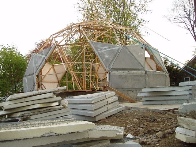Norwalk ct geodesic dome house 5 8 2008 under - The geodesic dome in connecticut call of earth ...