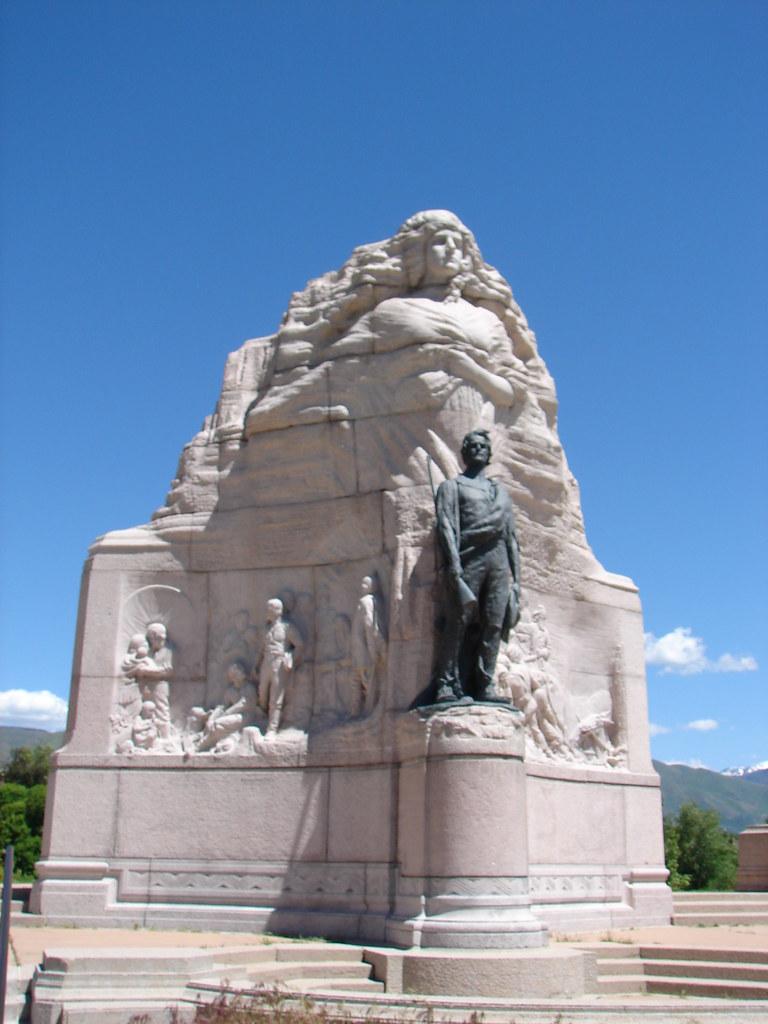 Mormon Battalion Monument In Salt Lake City, Utah Stock
