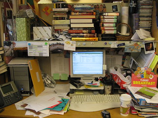 chaos at work, my desk | by Squid!