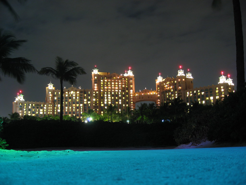 Royal Towers At Night Atlantis Resort Paradise Island B