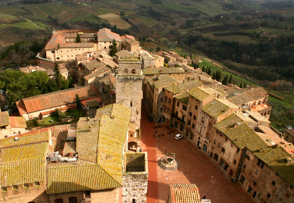View of San Gimignano, Tuscany, from one of its many towers