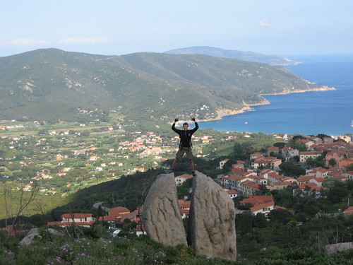 view from a cool stone on Marina di Campo (island Elba (Italy))