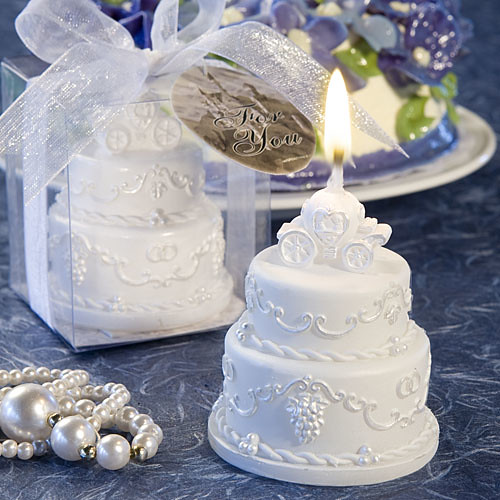 wedding cake candles favors pumkin carriage wedding cake candle alittle bit of 22157
