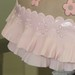 Pink and Brown Ball gown - closeup of ruffle