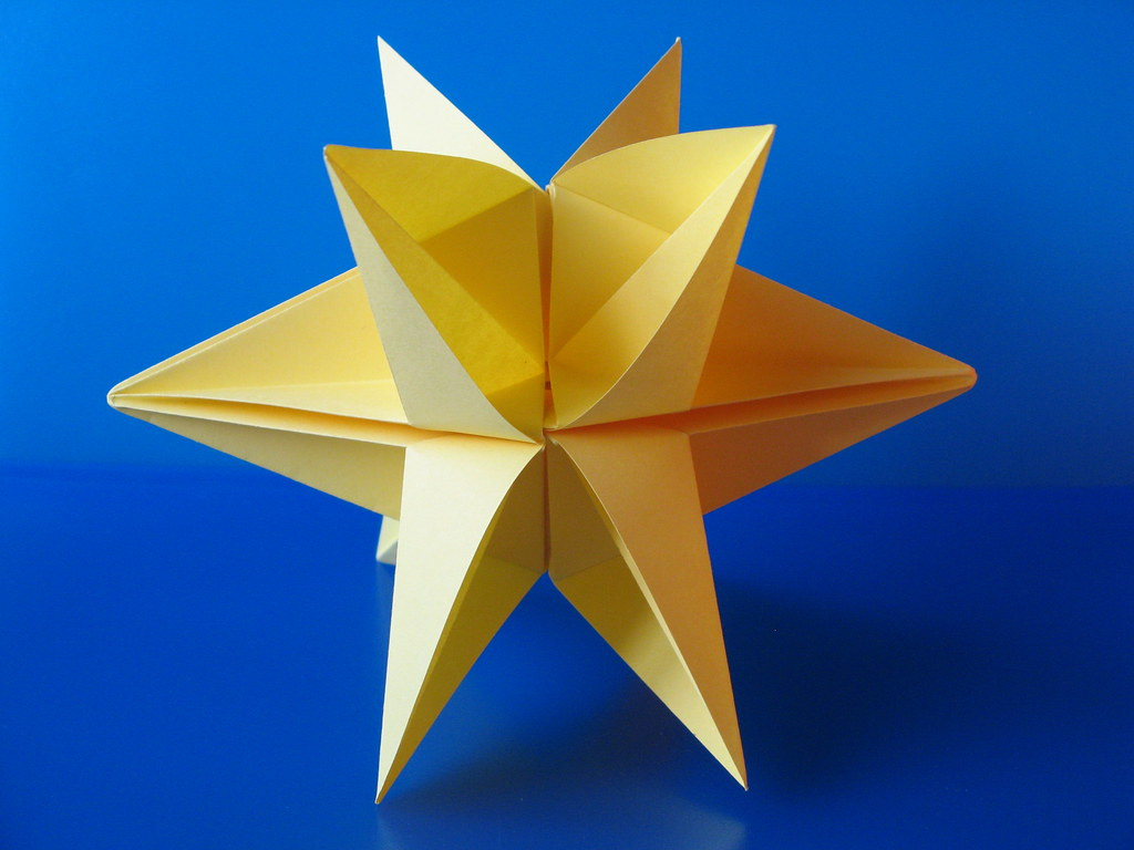 Modular Origami 5 Pointed Star