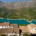 The reservoir of Guadalest in the Cost Blanca seen from the Moorish castle