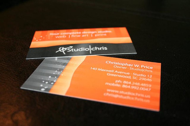 Studiochris orange business cards my new orange business flickr studiochris orange business cards by studioris reheart Image collections
