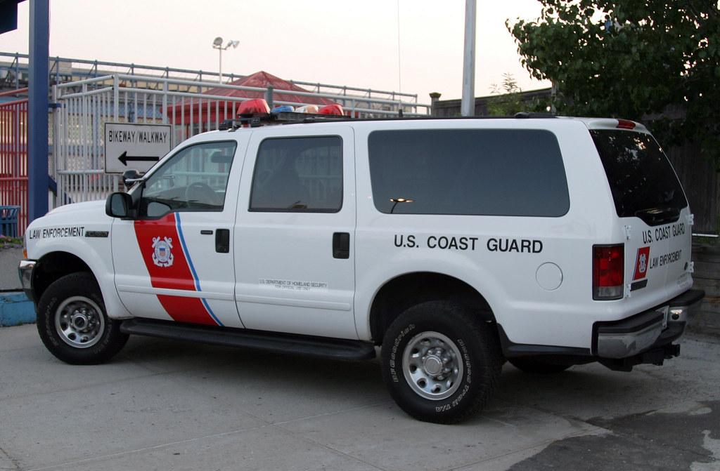 U S Coast Guard Police New York City Ford Excursion