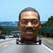 eddie murphy's giant head on the interstate