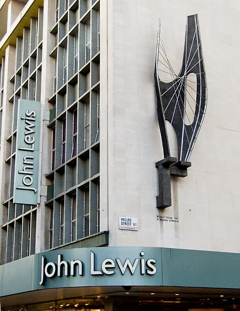 Winged Figure above John Lewis in Oxford Street - via Chris Beckett's Flickr site