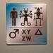 Science Fiction Museum restroom signage, pt. 1