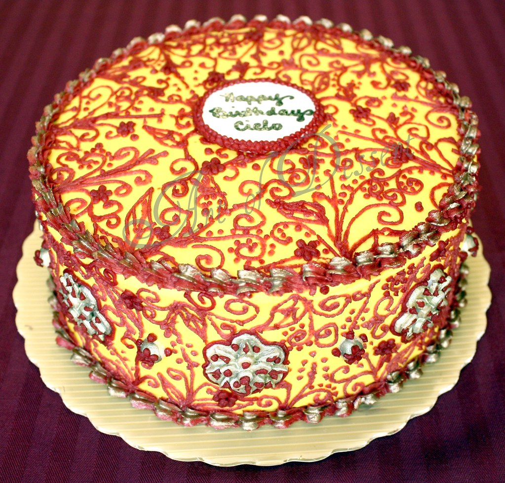 Mehndi Cake Qc : Henna inspired cake full view i tried to recreate the