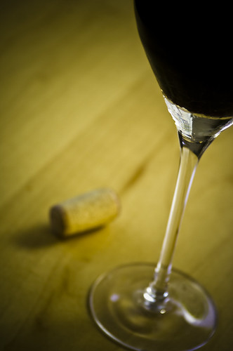 Glass of Red Wine with Cork | by TheBusyBrain