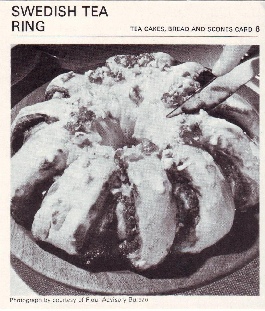 Swedish Tea Ring   More cinamon-flavoured tea-breads. Not su ...