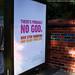 Atheist ad. Bus shelter mockup