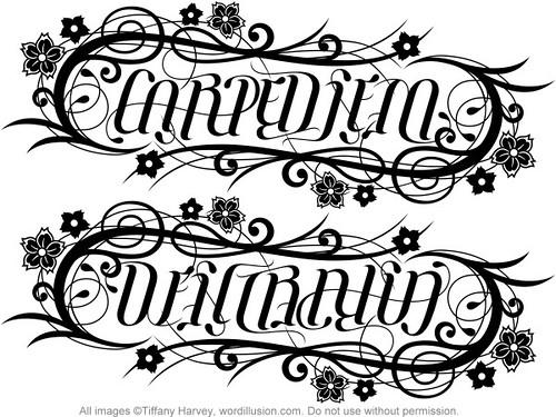 carpe diem dei gratia ambigram a custom ambigram of flickr. Black Bedroom Furniture Sets. Home Design Ideas