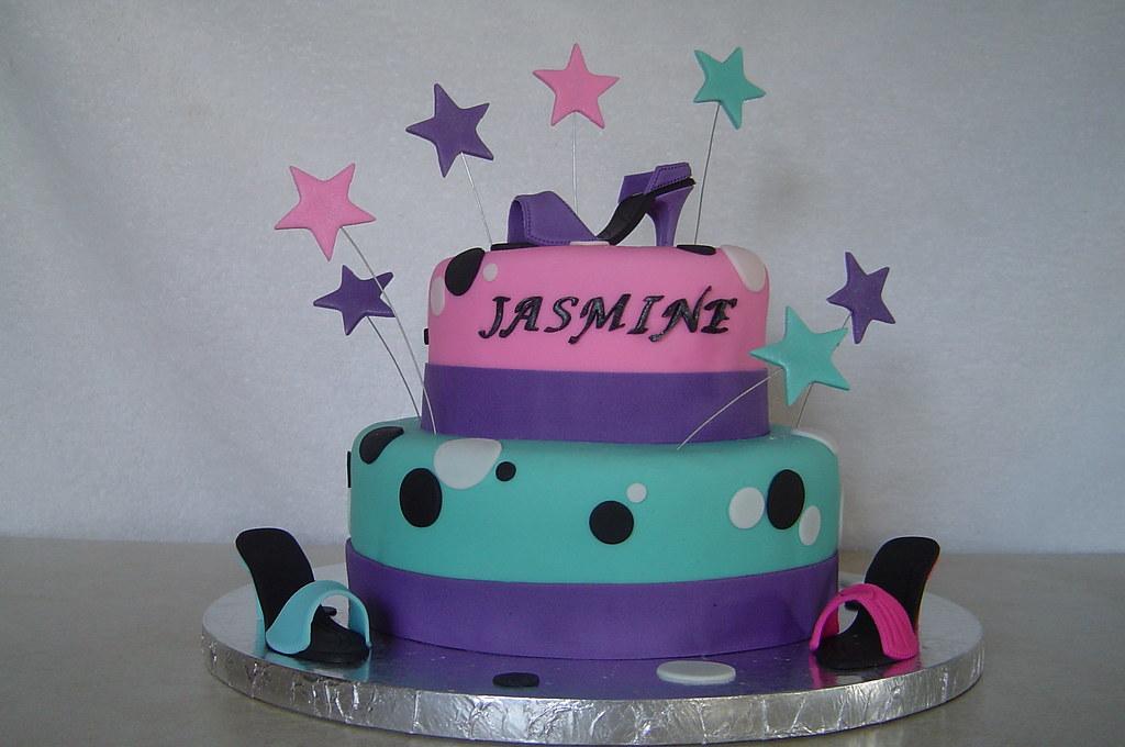 Latest Cake Designs For Birthday Girl : Shoe Diva Birthday Cake Birthday cake for an 8 year old ...