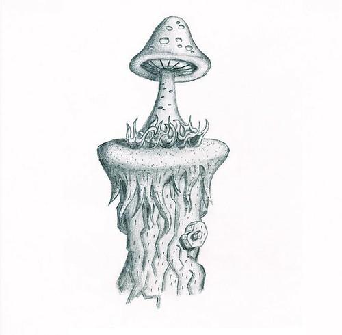 Mushroom drawing mushroom drawing craig stephens flickr for How to draw a mushroom