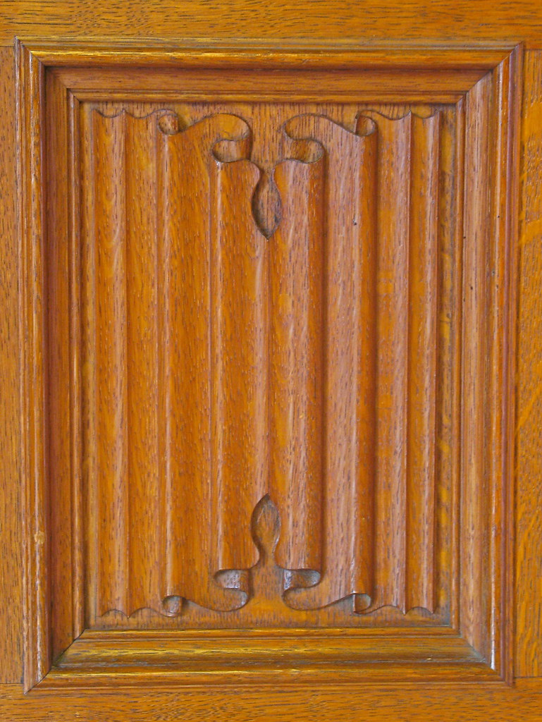 Linen Fold Carving Bletchley Park Carved Panel From The