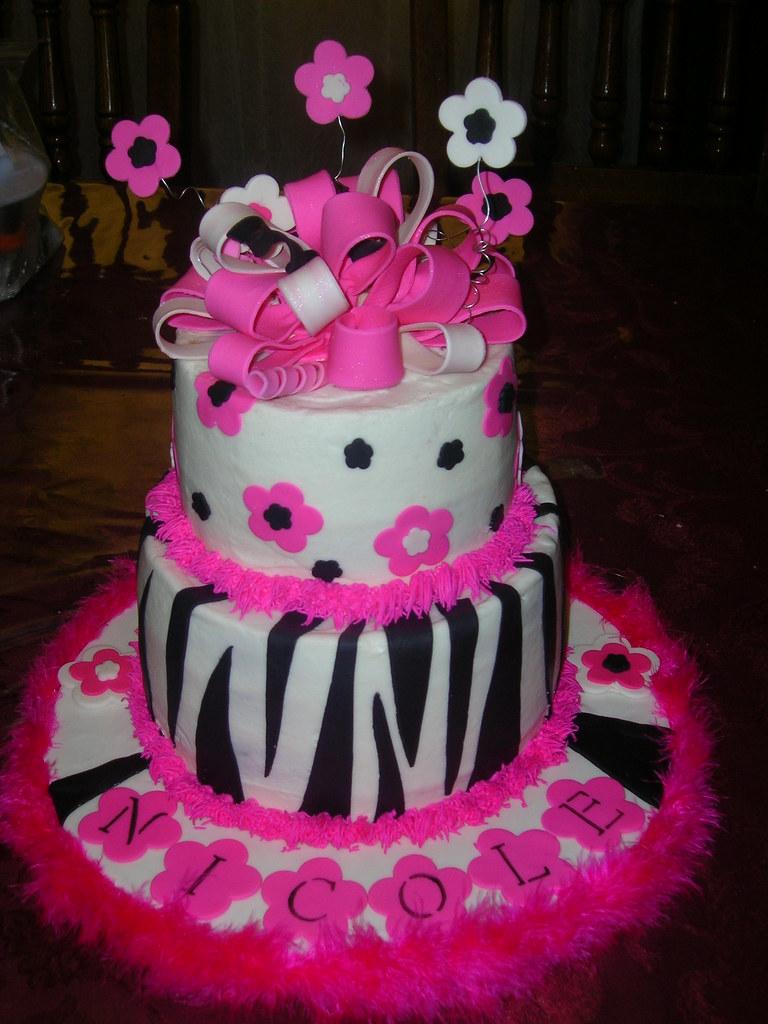 Zebra print Party cake monica mancini Flickr