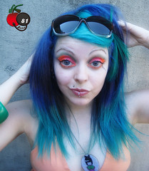 Crazy Girl With Blue and Green Hair... | by Cherry Bomb 81