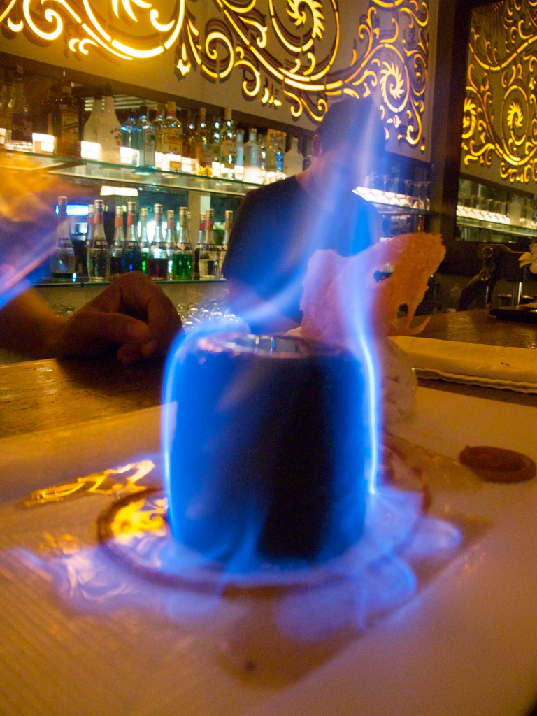 Fabulously Hot Dark Chocolate Fondant - Flaming in Cointre… | Flickr