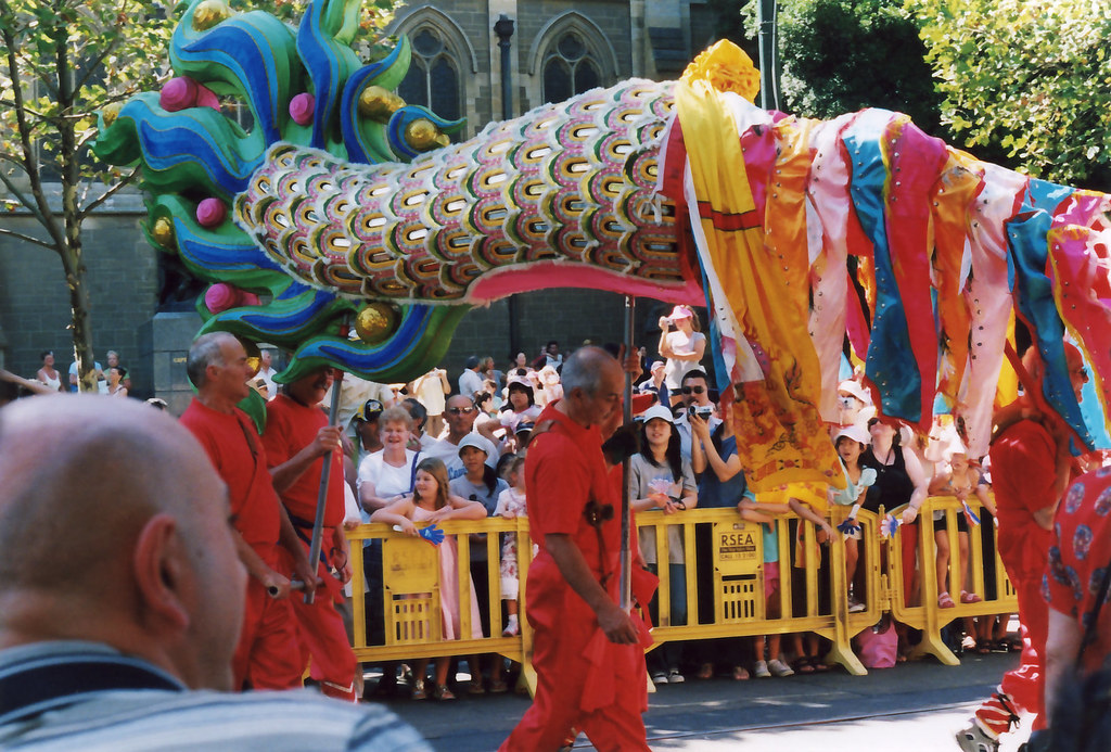 dragon's tail | The Chinese dragon at Melbourne's Moomba ...