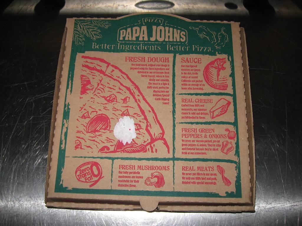 Papa John 39 S Hawaiian Bbq Chicken Pizza Box Papa John 39 S A Flickr