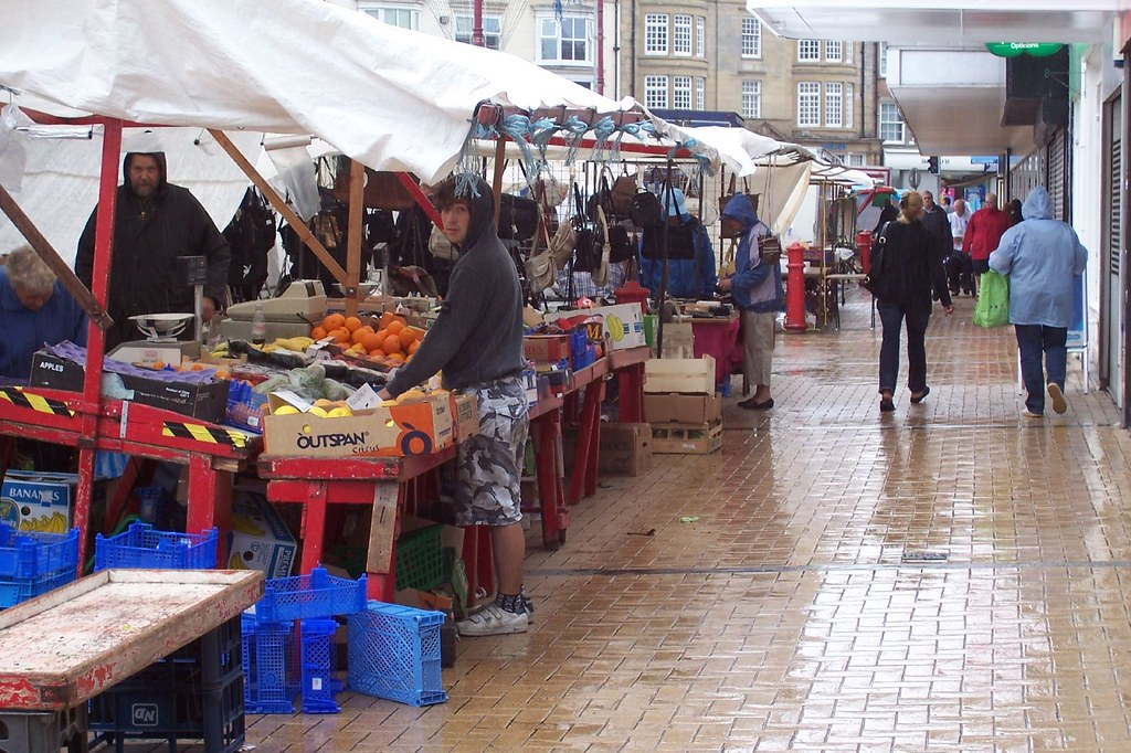 bridlington yorkshire street market stalls in late aft flickr. Black Bedroom Furniture Sets. Home Design Ideas